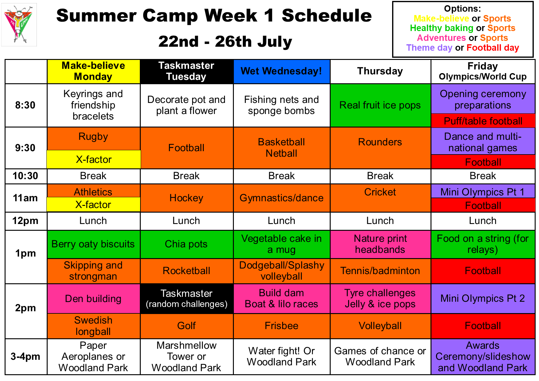 Summer camp week 1