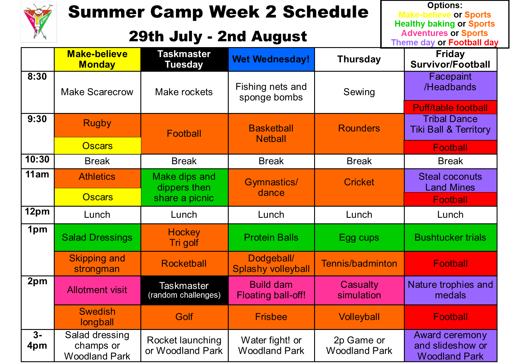 Summer camp week 2