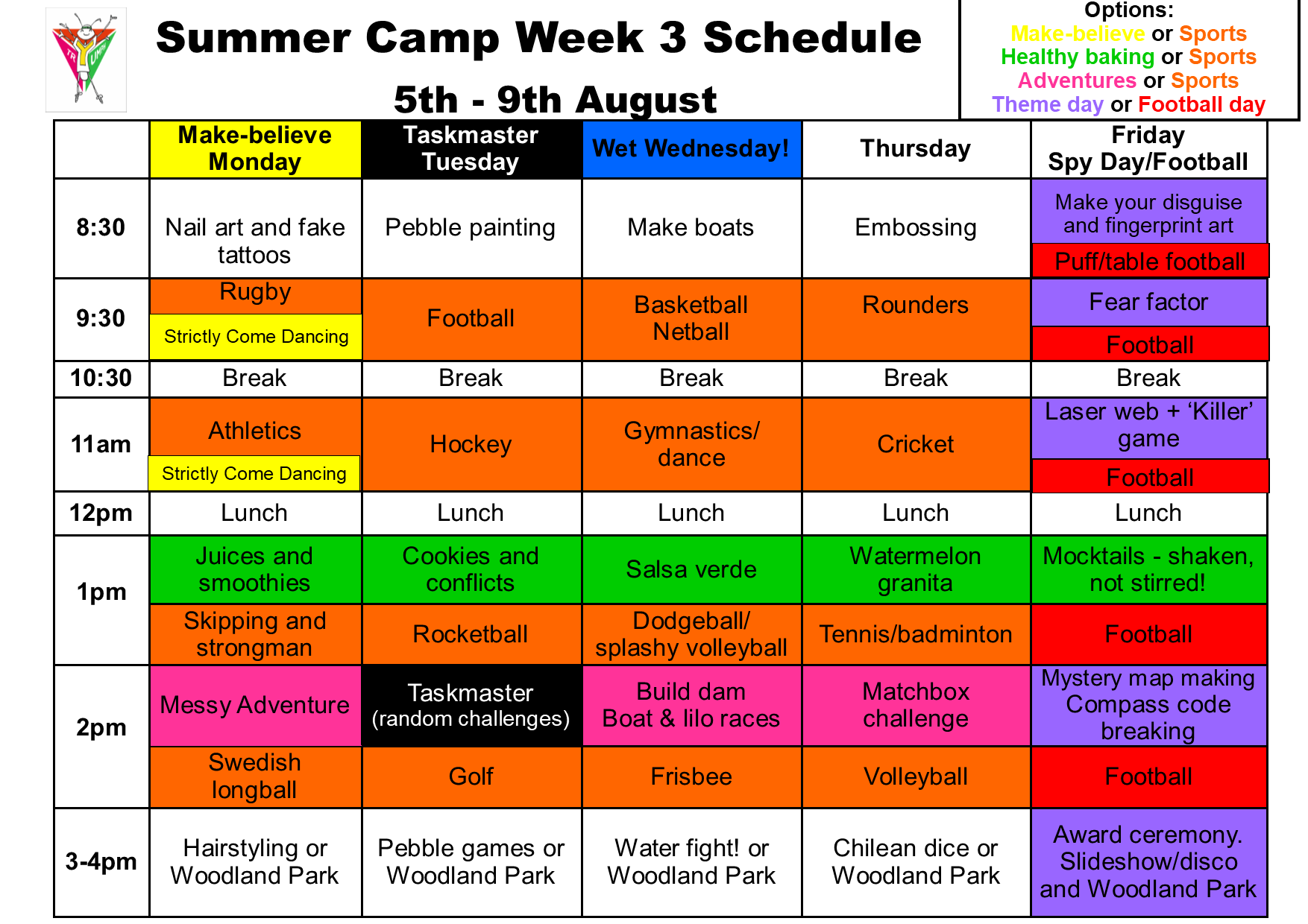 Summer camp week 3