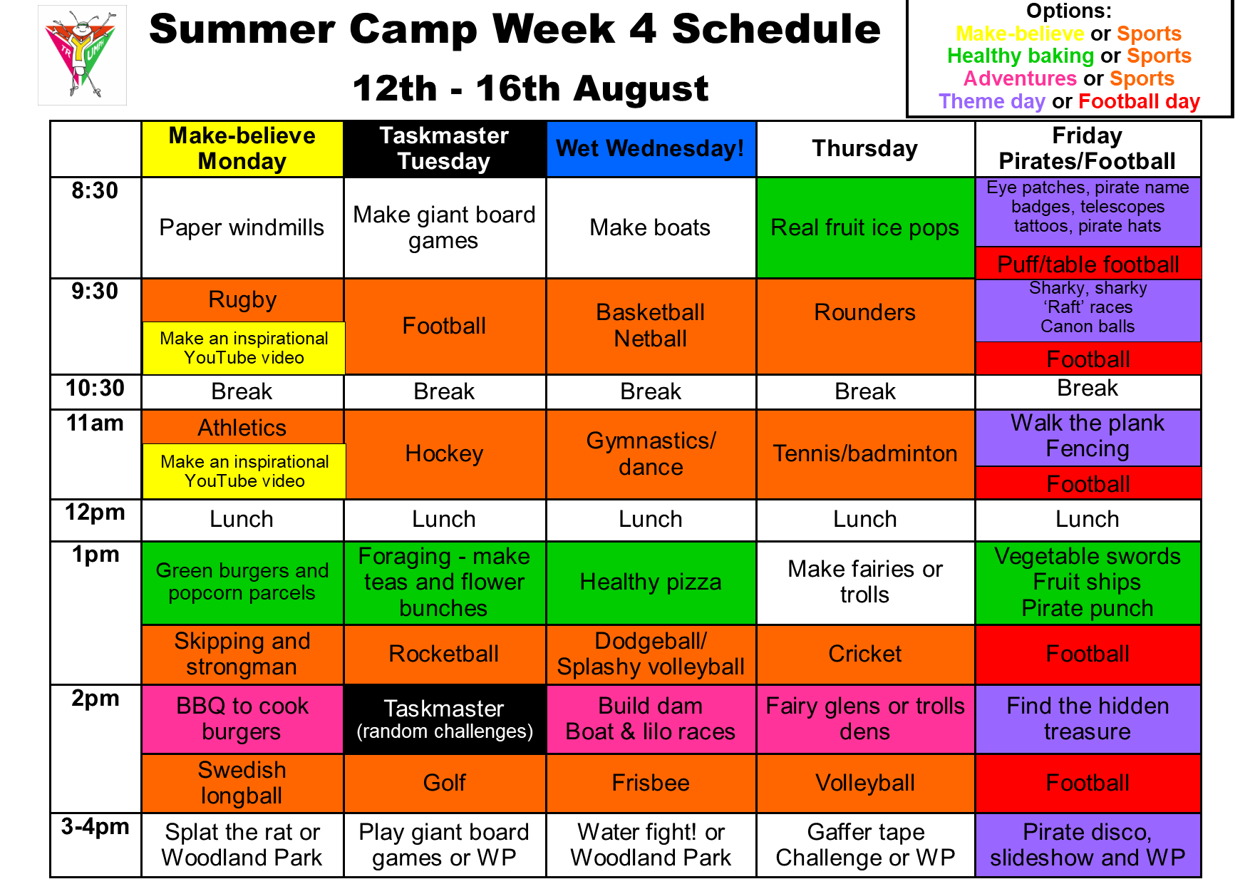 Summer camp week 4