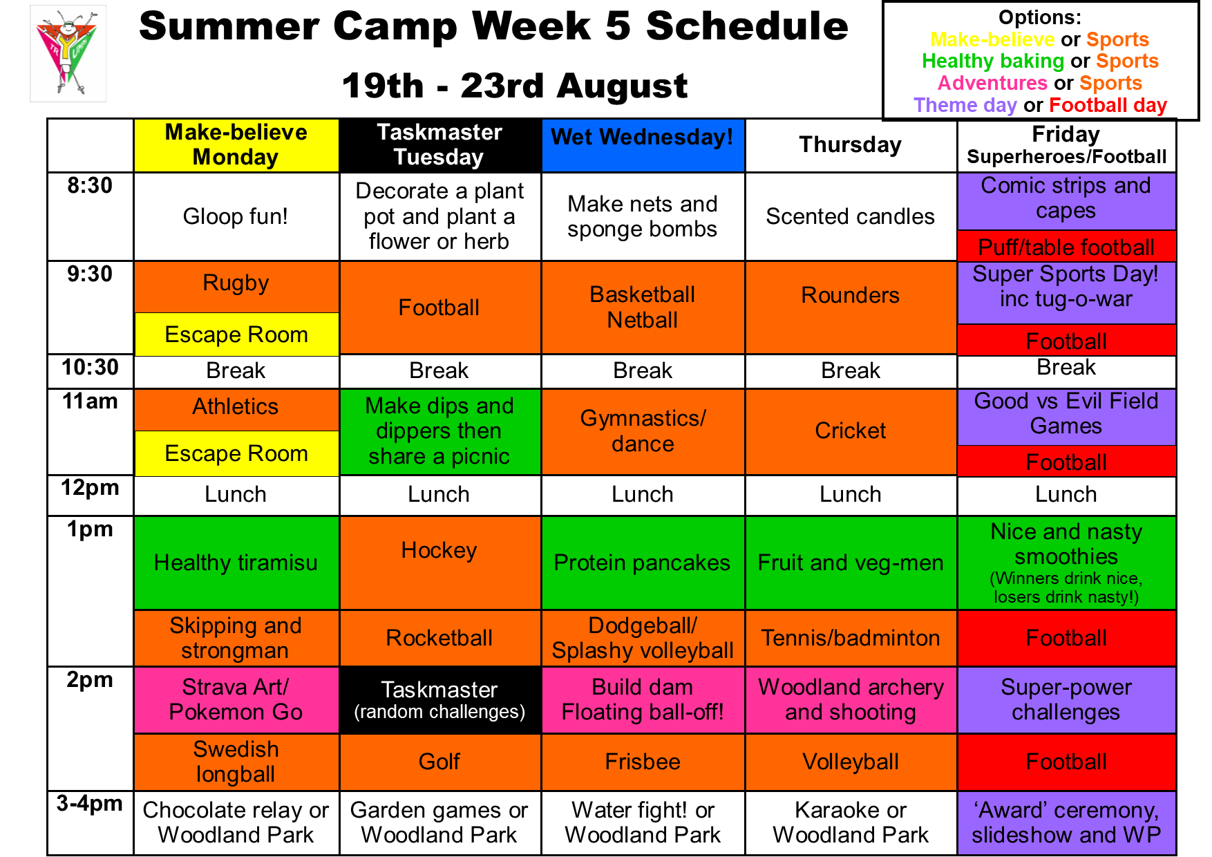 Summer camp week 5