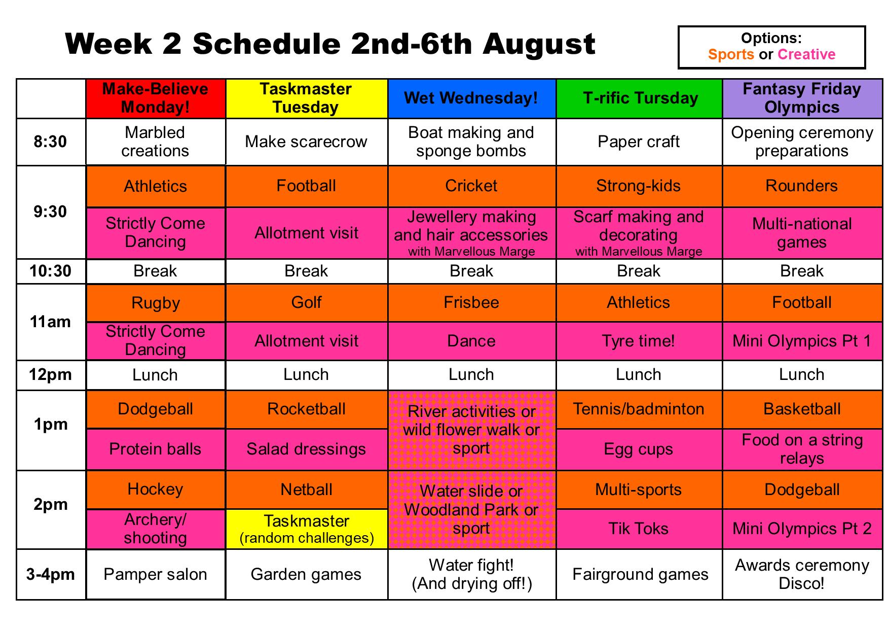 Summer camp week 2