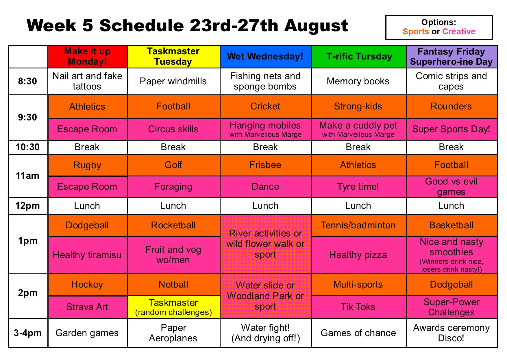 Summer camp week 5