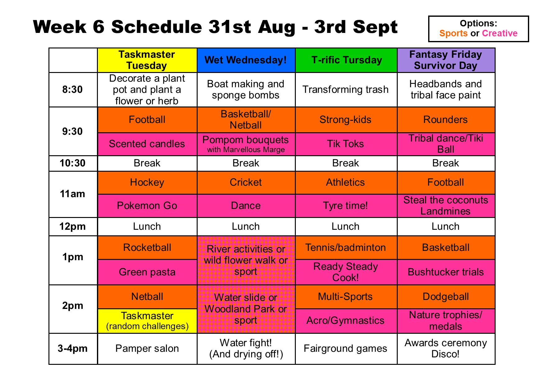 Summer camp week 6